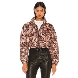 Lovers + Friends Leopard Vermont Jacket NWT
